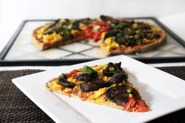 Gluten-free Raw Vegan Pizza