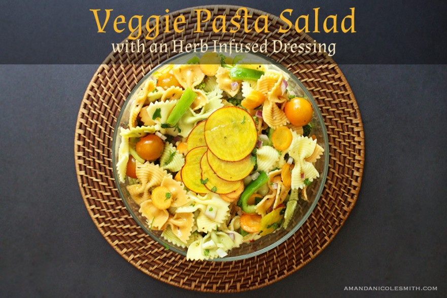 Veggie Pasta Salad with Herb Infused Dressing