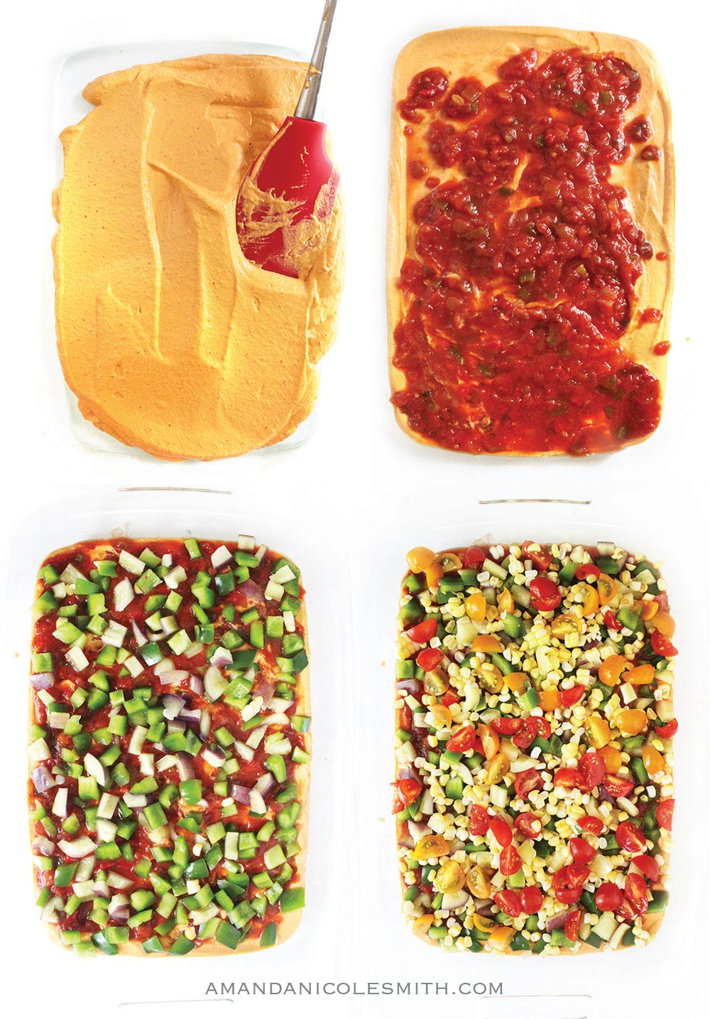 Raw Vegan Taco Dip Layers