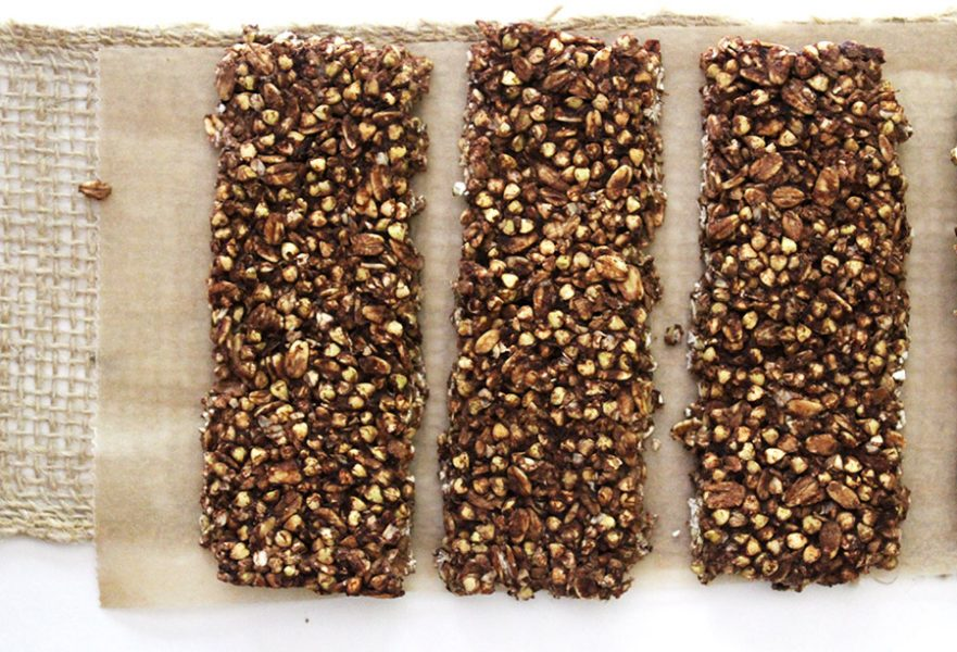 Spouted Buckwheat Chocolate Granola Bars
