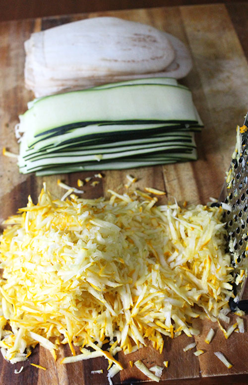 Zucchini Cheese and Lasagna Noodles