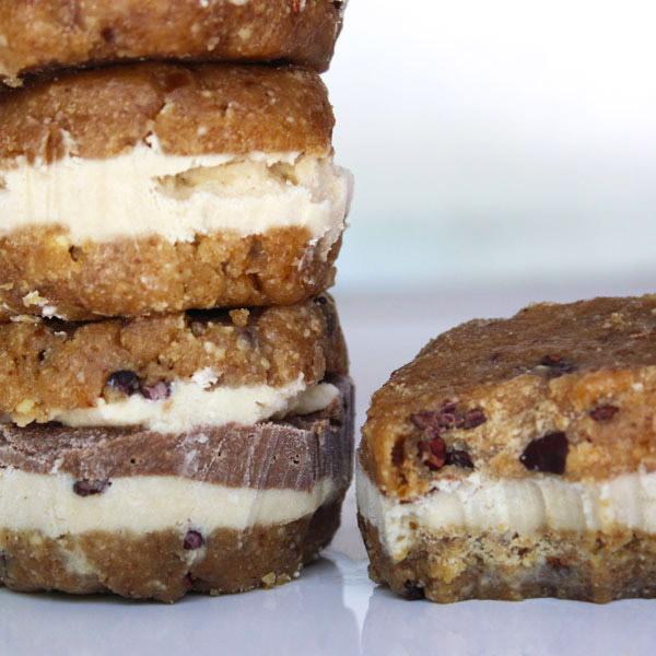 Raw Vegan Chocolate Chip Ice Cream Sandwich