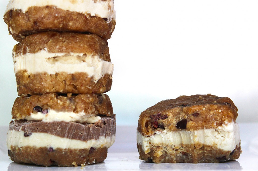 Raw Vegan Chocolate Chip Ice Cream Sandwich