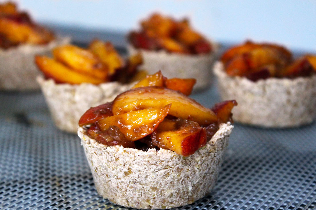 Raw Vegan Peach Pie