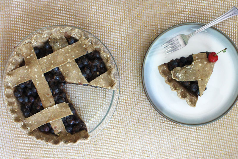 Raw Vegan Blueberry Pie Crust