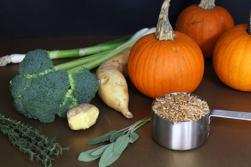 Halloween Pumpkin Bowl Ingredients