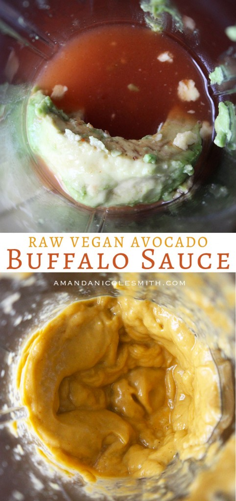 Raw Vegan Avocado Buffalo Sauce