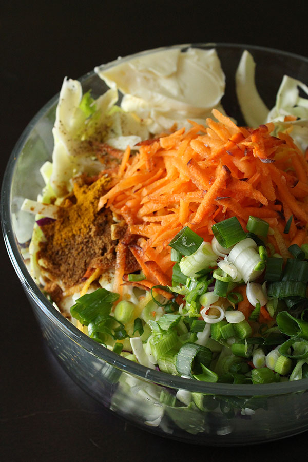 Vegan Curry Coleslaw