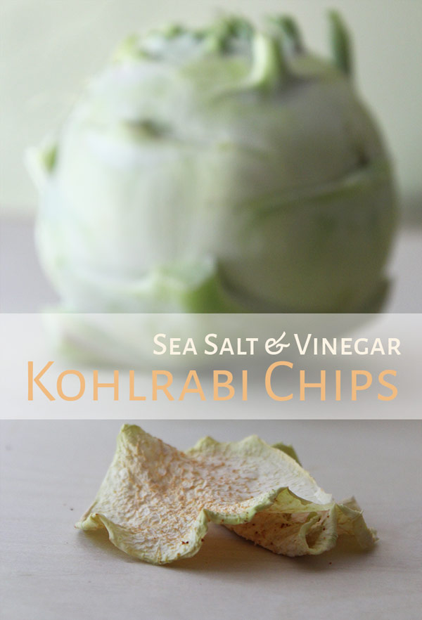 Dehydrated Sea Salt & Vinegar Kohlrabi Chips