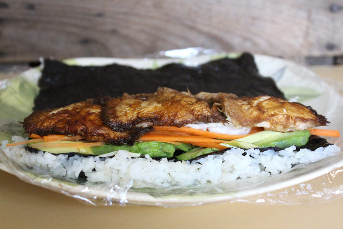 Pom Pom Mushroom Sushi