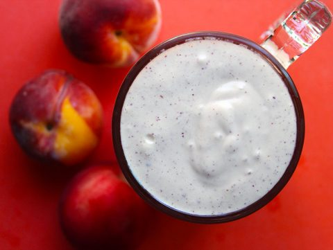 Simple Peaches & Cream Milkshake