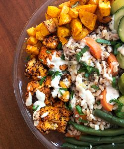 Vegan Buffalo Cauliflower Bowl